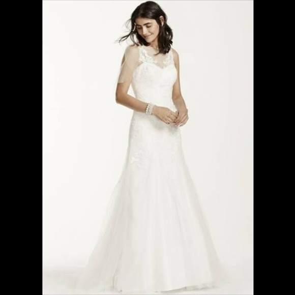 7035b94d5454 David's Bridal Dresses   Davids Bridal Size 16 Ivory Wedding Dress ...